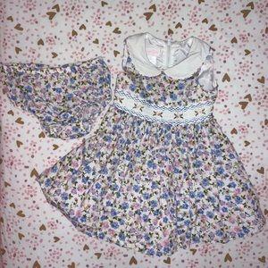 Floral-print sleeveless baby girl dress size 18m
